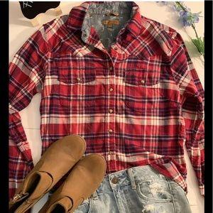 JACHS GIRLFRIEND Summer Top texan cowgirl Plaid